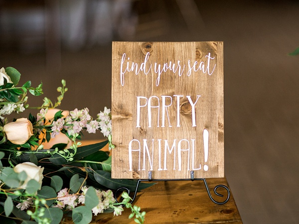 Party animal wooden sign