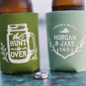 Rustic Wedding Drink Koozies