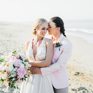 Two Brides for Beach Wedding