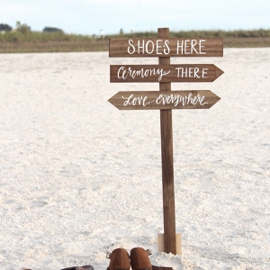 Rustic Beach Wedding Sign