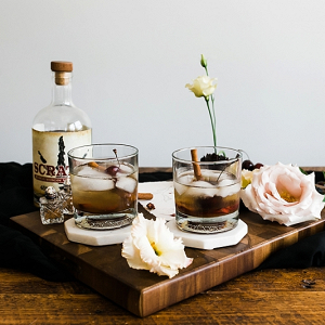 Spiced Cherry Old Fashioned Cocktail