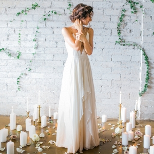 Romantic Ombre Wedding Dress