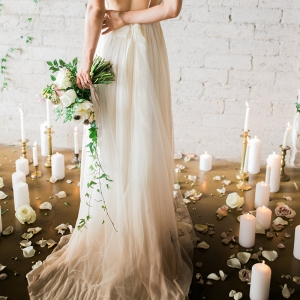 Ombre Wedding Dress Back