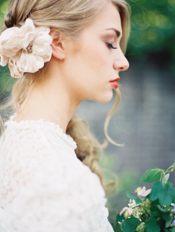 Velvet Floral Bridal Comb