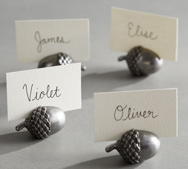 Acorn Place Card Holders
