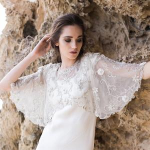 Silver Bridal Capelet