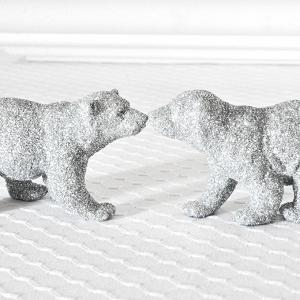 Silver Glitter Polar Bears