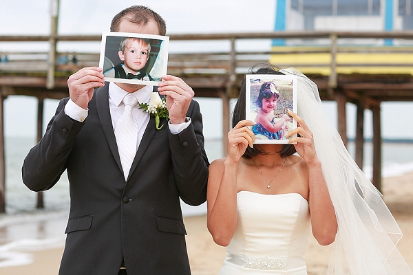 Fun newlywed photo idea