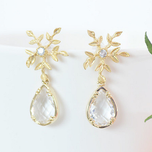 Winter Wedding Bridal Earrings