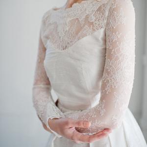 'Sophia' Long Lace Sleeves Wedding Dress
