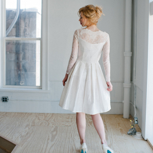 'Sophia' Long Sleeve Wedding Dress Back
