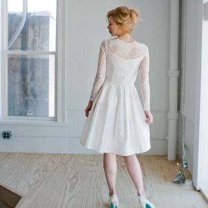 'Sophia' Long Sleeve Wedding Dress Back