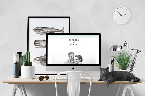 Free and Beautiful Wedding Website from Minted