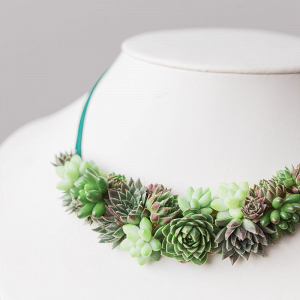 Succulent Floral Necklace