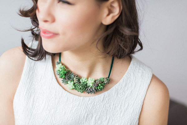 Greenery Succulent Floral Necklace