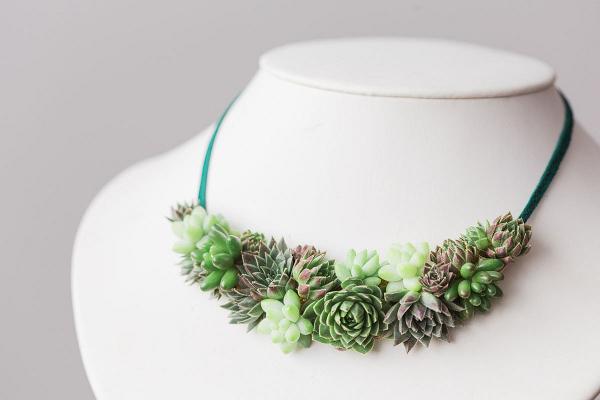 Succulent Floral Necklace