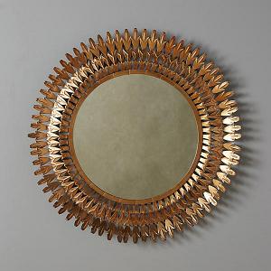 Large Round Sundial Mirror