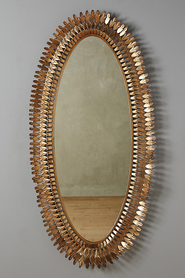 Large Oval Sundial Mirror