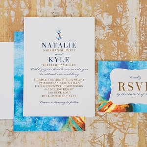 Bright nautical wedding stationery
