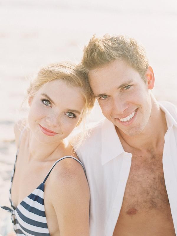 Newlyweds on the beach