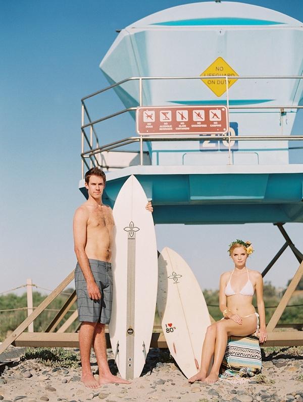Chic surfer honeymoon