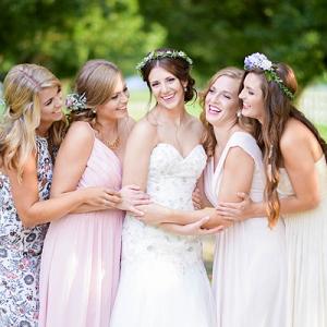 Sweet whimsical bridesmaids