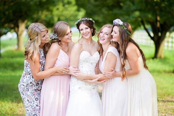 Sweet whimsical bridesmaids