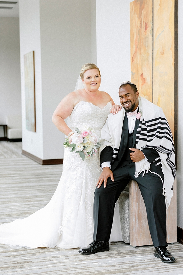 Jewish Bride and Groom with Prayer Shawl