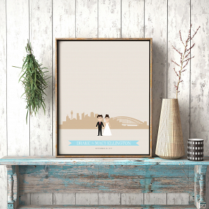 Sydney Australia Wedding Guest Book