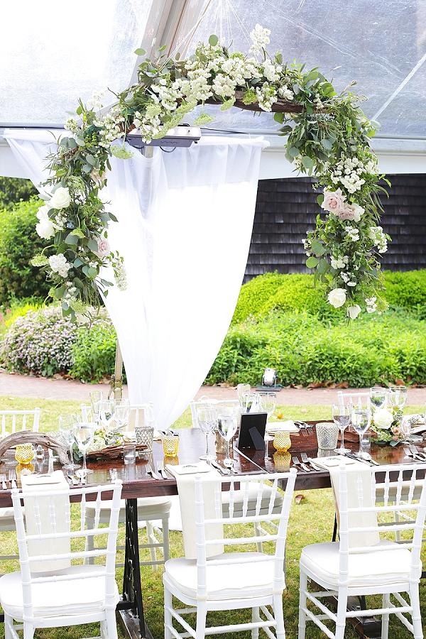Garden floral reception arch