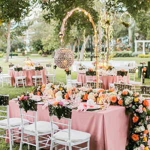 Luxe Garden Wedding Reception