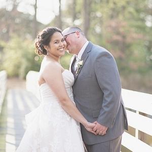 Filipino bride and groom