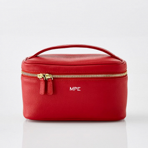 Red Travel Cosmetic Case