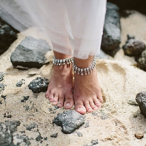Beach bride anklets