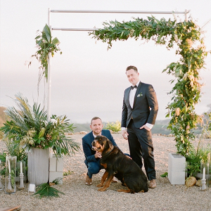 Asymmetrical Tropical Beach Wedding