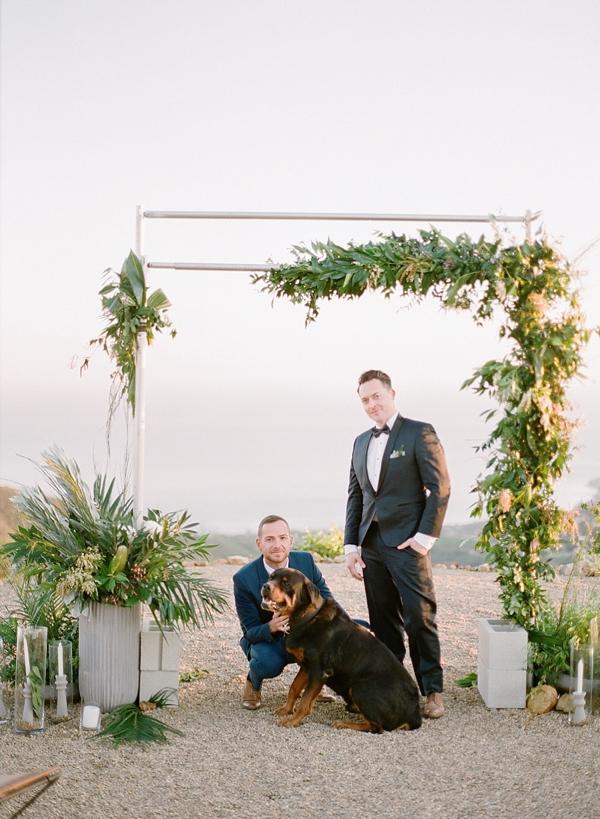 Asymmetrical Tropical Beach Wedding