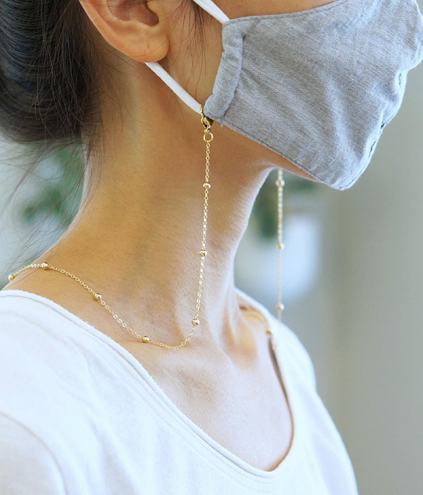 Gold Face Mask Chain