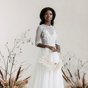 Modern Sheer Wedding Dress