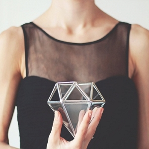 Geometric diamond ring box