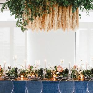Pampas Grass Wedding Chandelier