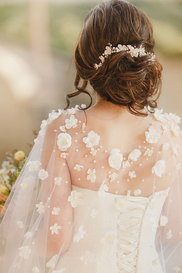 Flower Bridal Cape