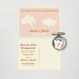 Australian Destination Wedding Postcard