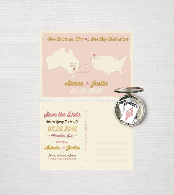 Australian Destination Wedding Postcard