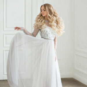 Vera Gray Lace Wedding Dress