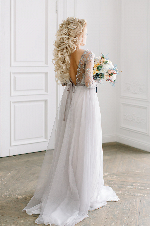 Vera Grey Lace Bridal Gown
