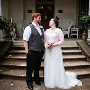 Pink and gray elopement