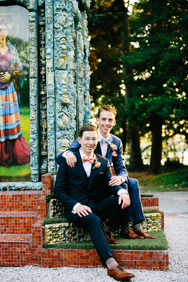 Two Grooms for their Vintage Garden Wedding