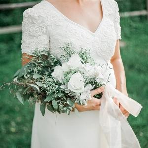 Presentation style hand tied wedding bouquet
