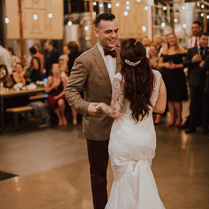 Vintage Modern Brewery Virginia Wedding