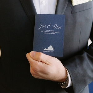Wedding program with state of Virginia for two grooms